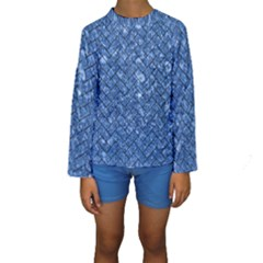 BRK2 BK-BL MARBLE (R) Kid s Long Sleeve Swimwear