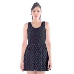 BRK2 BK-BL MARBLE Scoop Neck Skater Dress