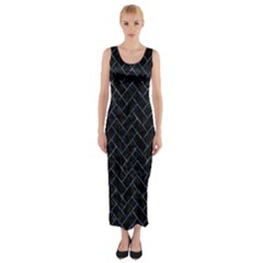 BRK2 BK-BL MARBLE Fitted Maxi Dress