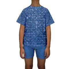 BRK1 BK-BL MARBLE (R) Kid s Short Sleeve Swimwear
