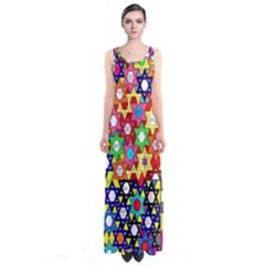 Star Of David Full Print Maxi Dress