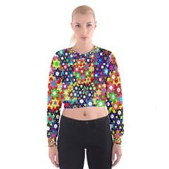 Star Of David Women s Cropped Sweatshirt