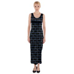 BRK1 BK-BL MARBLE Fitted Maxi Dress