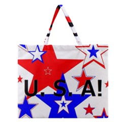 The Patriot Usa Zipper Large Tote Bag