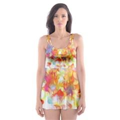 Hawaiian Flair Skater Dress Swimsuit