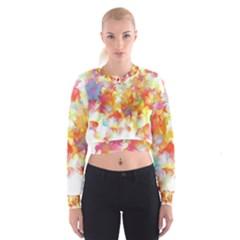 Hawaiian Flair Women s Cropped Sweatshirt