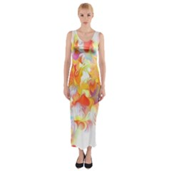Hawaiian Flair Fitted Maxi Dress