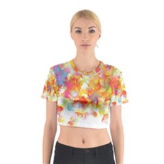 Hawaiian Flair Cotton Crop Top