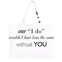 Wedding Favor/Thank You Zipper Large Tote Bag