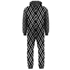 Woven2 Black Marble & Silver Brushed Metal Hooded Jumpsuit (men)