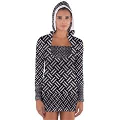 WOV2 BK MARBLE SILVER Women s Long Sleeve Hooded T-shirt