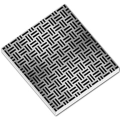 Woven1 Black Marble & Silver Brushed Metal (r) Small Memo Pads