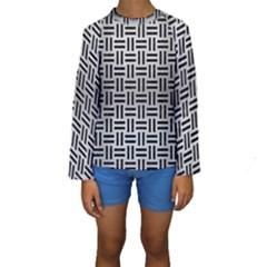 WOV1 BK MARBLE SILVER (R) Kid s Long Sleeve Swimwear