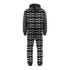 Woven1 Black Marble & Silver Brushed Metal Hooded Jumpsuit (kids)