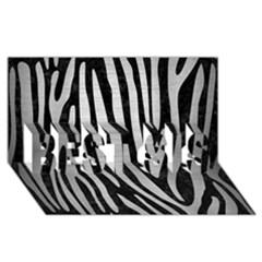 Skin4 Black Marble & Silver Brushed Metal (r) Best Sis 3d Greeting Card (8x4)