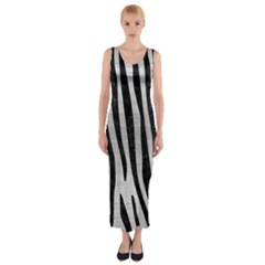SKN4 BK MARBLE SILVER Fitted Maxi Dress