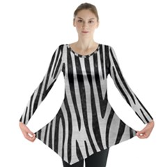 SKN4 BK MARBLE SILVER Long Sleeve Tunic