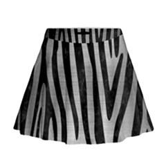 SKN4 BK MARBLE SILVER Mini Flare Skirt