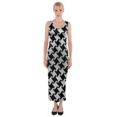 HTH2 BK MARBLE SILVER Fitted Maxi Dress