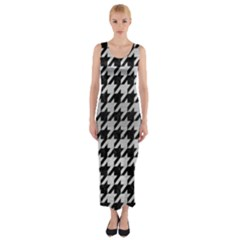HTH1 BK MARBLE SILVER Fitted Maxi Dress