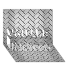 Brick2 Black Marble & Silver Brushed Metal (r) You Are Invited 3d Greeting Card (7x5)