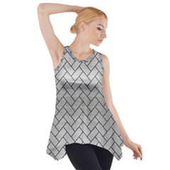 BRK2 BK MARBLE SILVER (R) Side Drop Tank Tunic