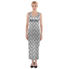 BRK2 BK MARBLE SILVER (R) Fitted Maxi Dress