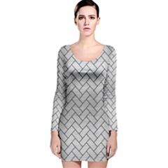 BRK2 BK MARBLE SILVER (R) Long Sleeve Velvet Bodycon Dress