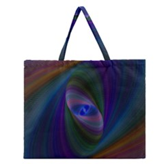 Eye Of The Galactic Storm Zipper Large Tote Bag