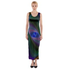 Eye Of The Galactic Storm Fitted Maxi Dress