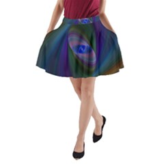 Eye Of The Galactic Storm A-Line Pocket Skirt