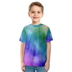 Rainbow Watercolor Kid s Sport Mesh Tee