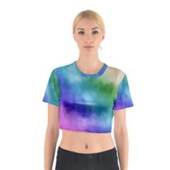 Rainbow Watercolor Cotton Crop Top