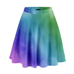 Rainbow Watercolor High Waist Skirt