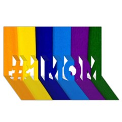 Rainbow Painting On Wood #1 Mom 3d Greeting Cards (8x4)