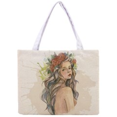 Beauty Of A woman In Watercolor Style Mini Tote Bag