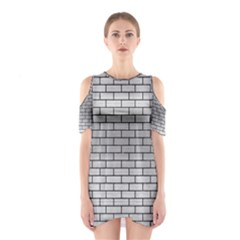 Brick1 Black Marble & Silver Brushed Metal (r) Shoulder Cutout One Piece