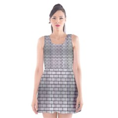 BRK1 BK MARBLE SILVER (R) Scoop Neck Skater Dress