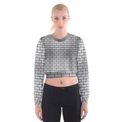 BRK1 BK MARBLE SILVER (R) Women s Cropped Sweatshirt