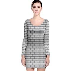 Brk1 Bk Marble Silver (r) Long Sleeve Velvet Bodycon Dress