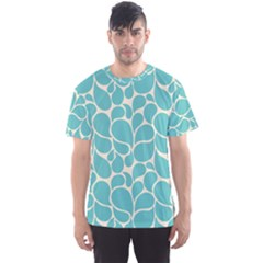 Blue Abstract Water Drops Pattern Men s Sport Mesh Tee
