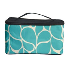 Blue Abstract Water Drops Pattern Cosmetic Storage Cases