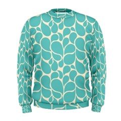 Blue Abstract Water Drops Pattern Men s Sweatshirt