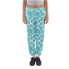 Blue Abstract Water Drops Pattern Women s Jogger Sweatpants