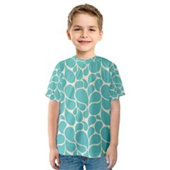 Blue Abstract Water Drops Pattern Kid s Sport Mesh Tee