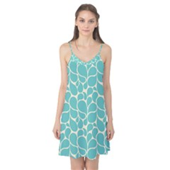 Blue Abstract Water Drops Pattern Camis Nightgown