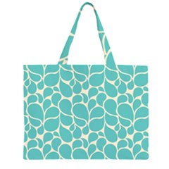 Blue Abstract Water Drops Pattern Large Tote Bag
