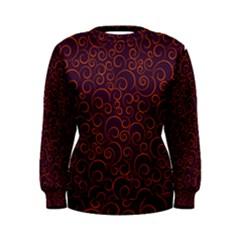 Seamless Orange Ornaments Pattern Women s Sweatshirt