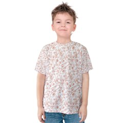 Hand Drawn Seamless Floral Ornamental Background Kid s Cotton Tee