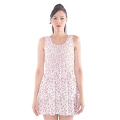 Hand Drawn Seamless Floral Ornamental Background Scoop Neck Skater Dress